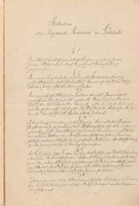 """Statuten des Kegelclubs """"Saxonia"""" zu Lobstädt vom 26.11.1890"""